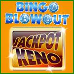 Try Jackpot Keno at Bingo Blowout
